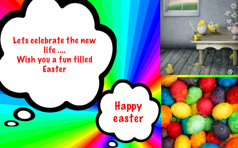 EASTER CARDS ON THE iPad