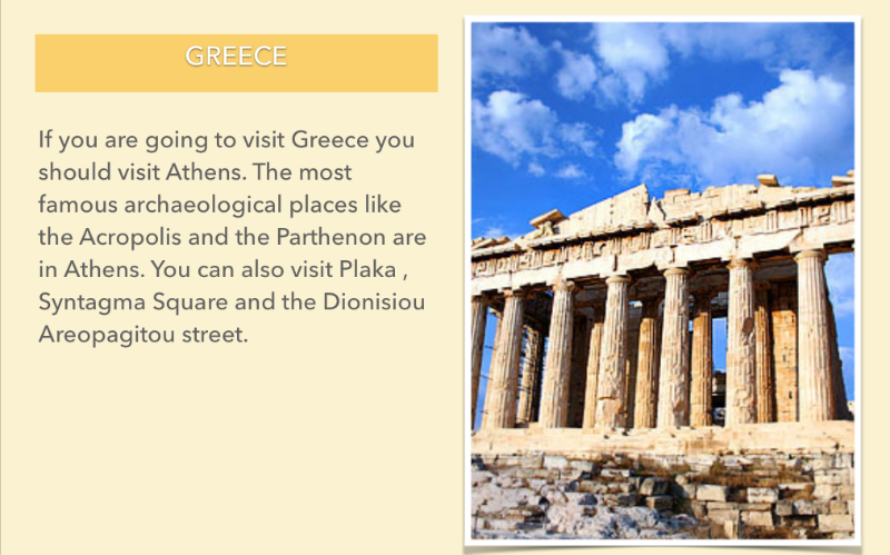 VISITING GREECE...
