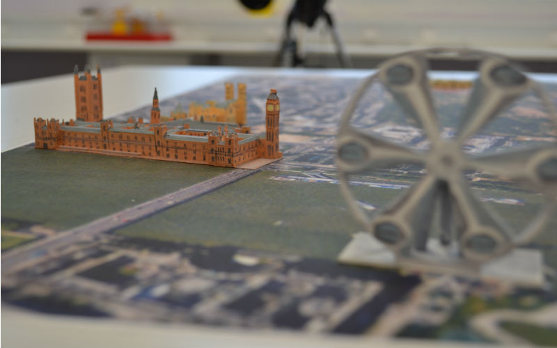 3D-HOUSES OF PARLIAMENT AND BIG BEN