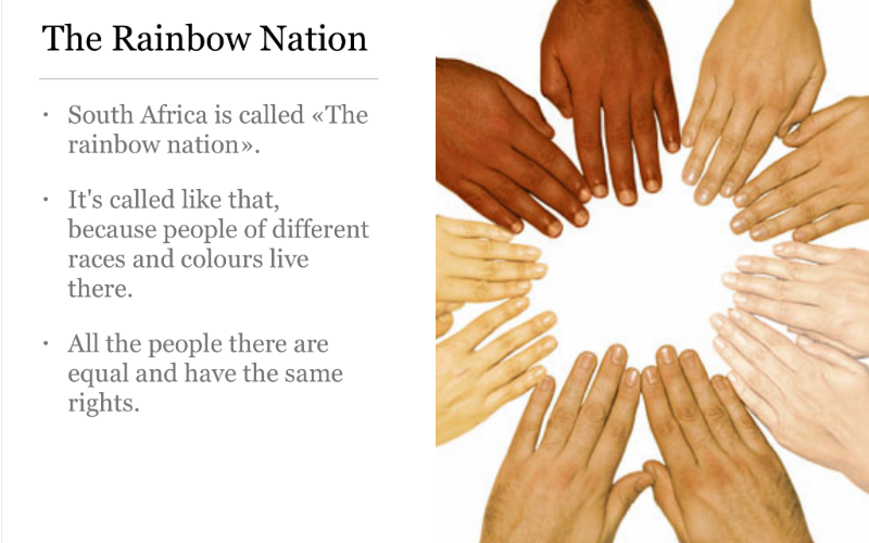 SOUTH AFRICA - A RAINBOW NATION